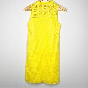 LOFT Dresses - LOFT Mixed Eyelet Club Dress Size 0